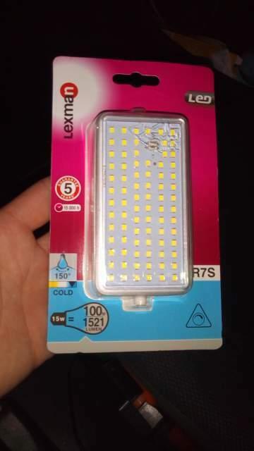 1 lampadina led r7s 100w lexman
