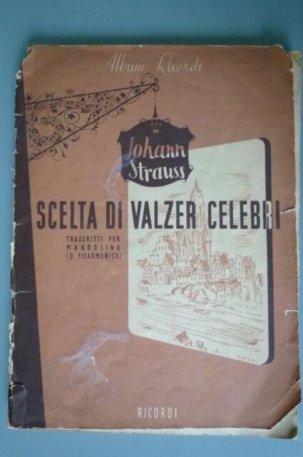 """Spartito """"Scelta di valzer celebri"""" ed. Ricordi"""