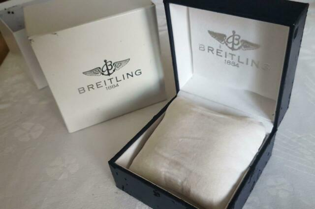 Breitling scatola originale pelle blu+controscatola