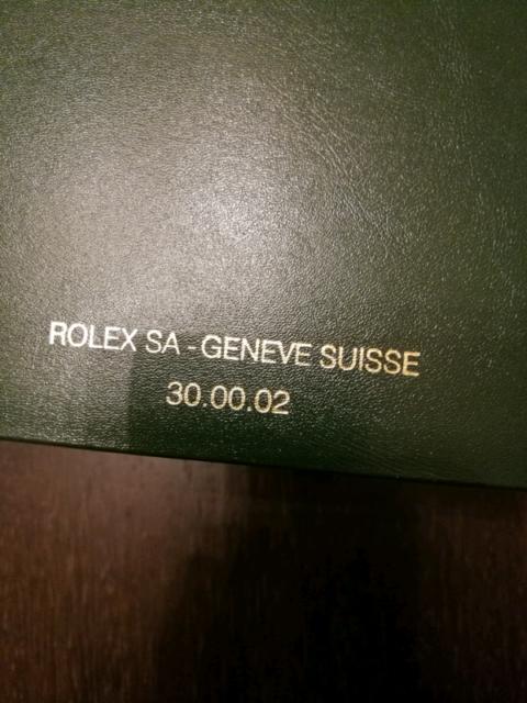Scatola per orologio rolex originale