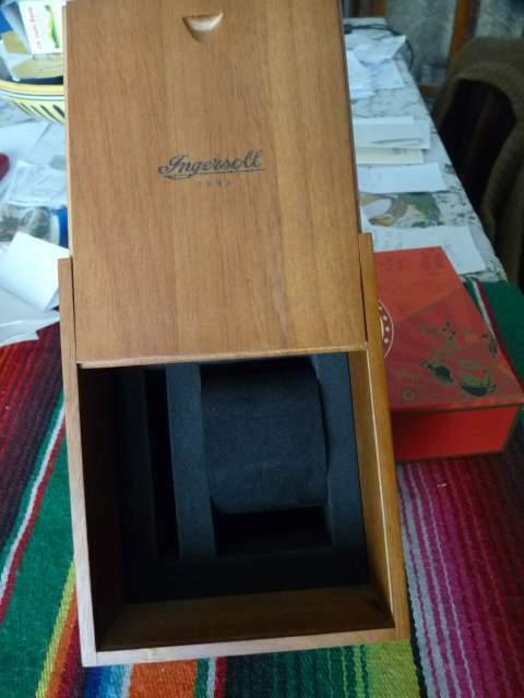 Scatola per orologio INGERSOL in legno originale