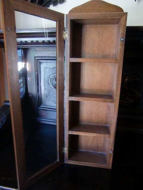 Vetrinetta in legno cm 55 a specchio