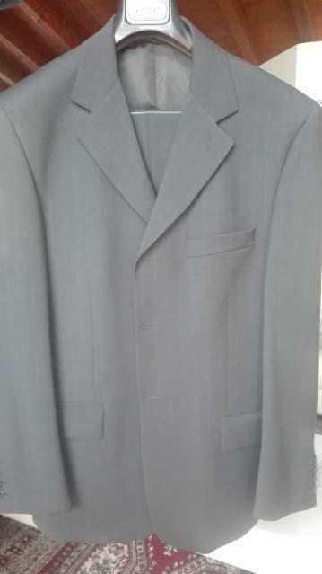 Angelico Gilet grigio chiaro merino a v, maglie da Uomo, in