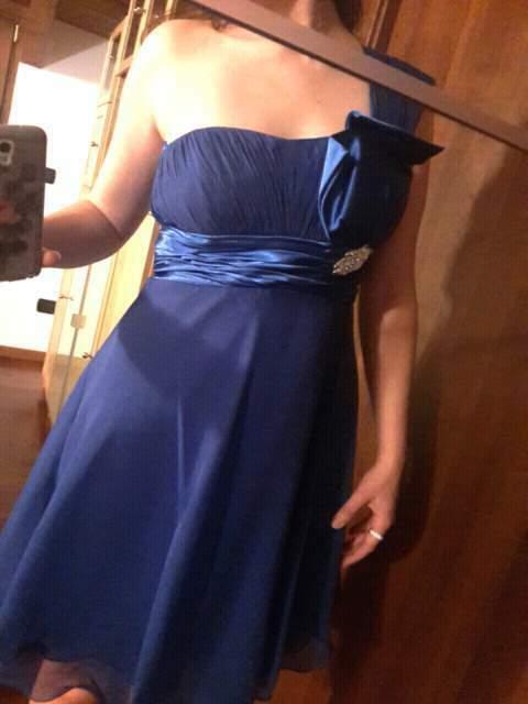 Vestito blu elegante taglia m