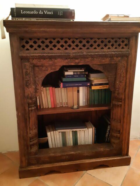 Mobile etnico libreria legno massello