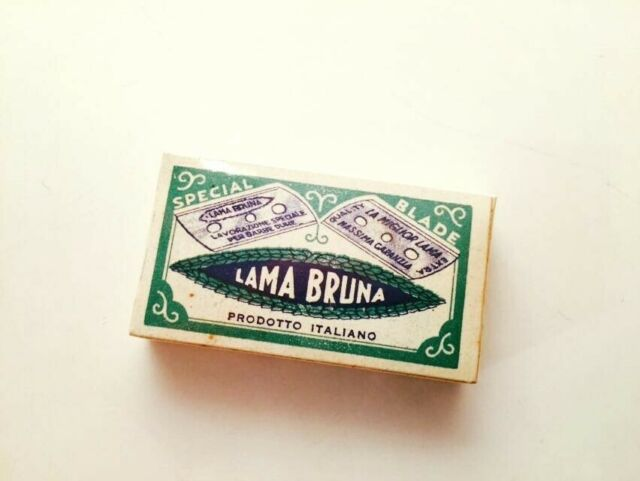 Scatola di Lamette Vintage Lama Bruna