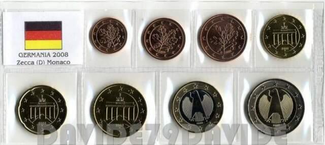 GERMANIA serie completa di 8 monete in euro FDC-1 emssione
