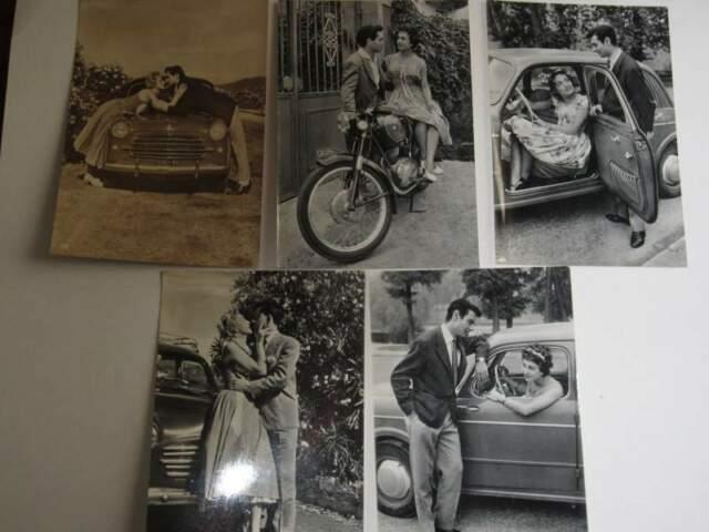 CARTOLINE n.5: Coppie con Auto Fiat e Moto Gilera
