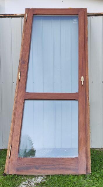 Infisso porta finestra in legno massello 88 x 217