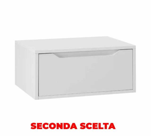 Mobile Bagno Sospeso 60 Cm In Legno Tft Belsk Bianco Opaco