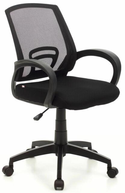 Sedia Da Ufficio Operativa In Tessuto My Office Room Nera
