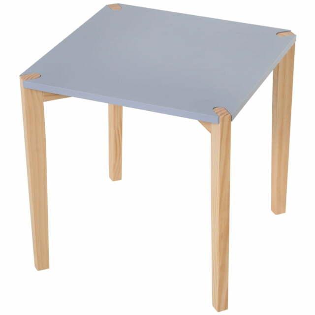 Tavolino Da Soggiorno 45x45x45 Cm In Mdf E Legno Benzoni