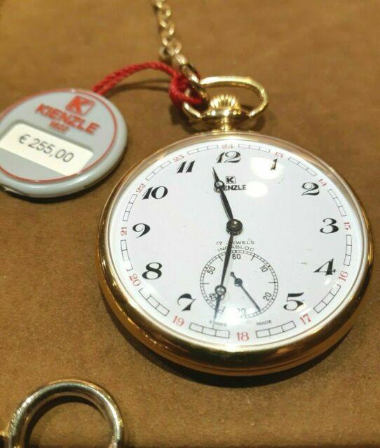 Orologio da tasca in acciaio dorato KIENZLE - nuovo -