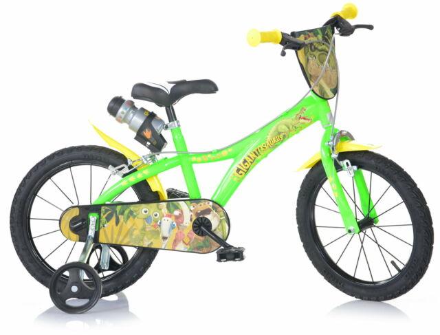 "Bicicletta Per Bambino 16"" 2 Freni Gigantosaurus Verde"