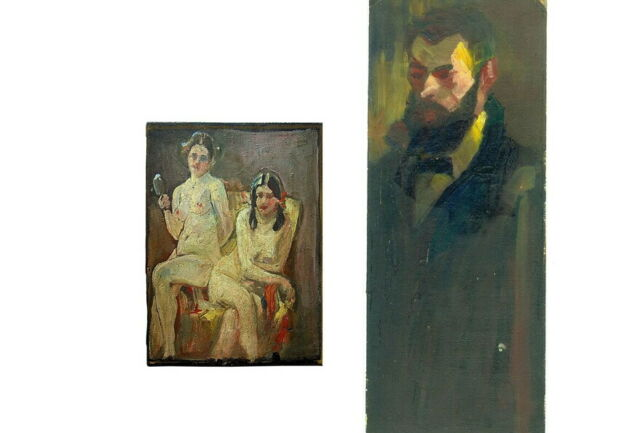 Ludwig Klaissner: 2 dipinti a olio
