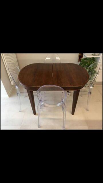 Tavolo ovale antico fine 800