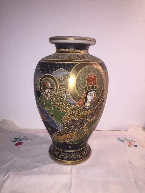 Vaso Cinese Satsuma Antico Finiture Oro