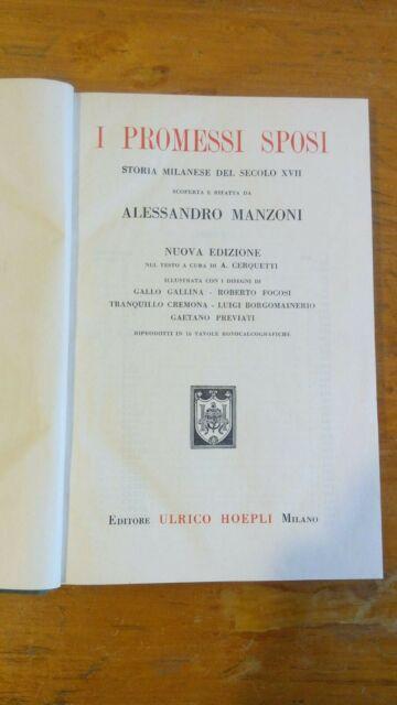 I PROMESSI SPOSI di A Manzoni ed. HEOPLI  pag