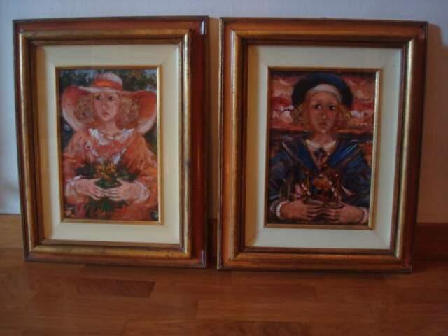 2 Quadri dipinti a olio 20x30cm di Vincenzo Muscatello