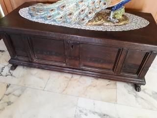 Cassapanca antica legno massello