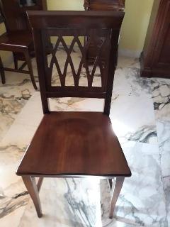 Sedie legno massello sala da pranzo/soggiorno