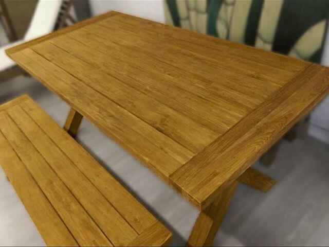 Tavolo da pranzo tavola in legno massello grezzo naturale