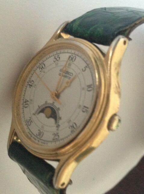 Orologio da donna Seiko al quarzo laminato oro con fasi