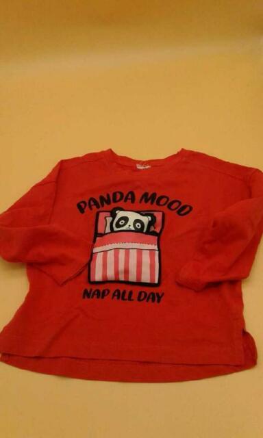 T shirt bambino rosso panda mood