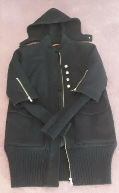 Cappotto liu jo alla coreana cappuccio e maniche staccabili