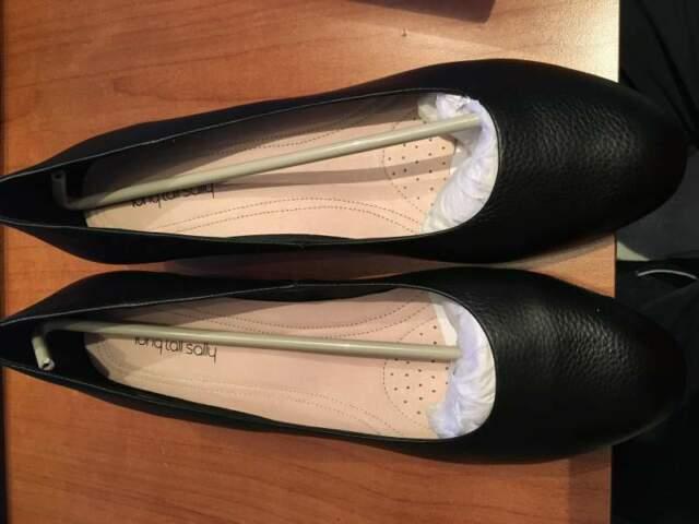 Scarpe da donna con tacco in pelle nera