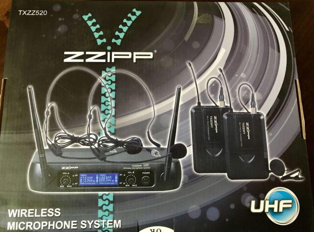 Zzipp set doppio radiomicrofono archetti e levalier nuovo