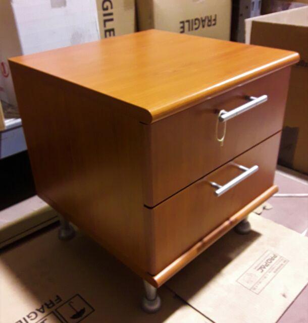 Cassettiera scrivania/comodino in LEGNO CILIEGIO 2 cassetti