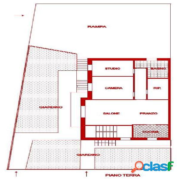 Cognento - Porzione di casa con giardino