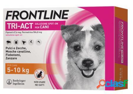 Frontline tri-act per cani da 5-10 kg - 3 pipette