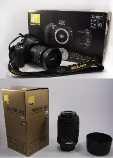 Reflex Nikon D con obiettivi