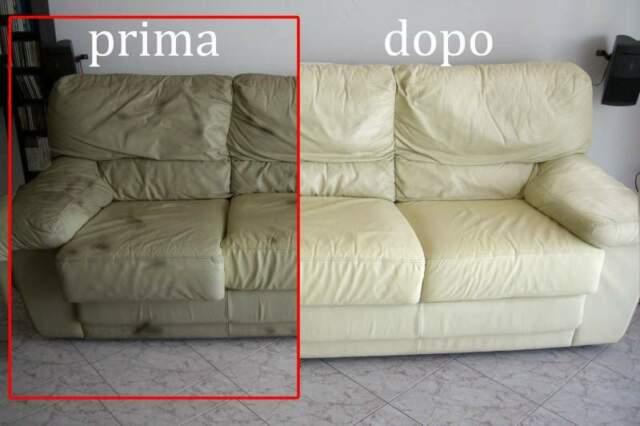 Ripristino e restauro divani in pelle