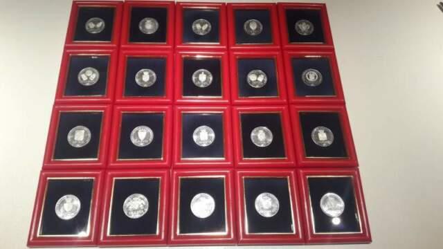 Collezione completa monete argento  elezioni