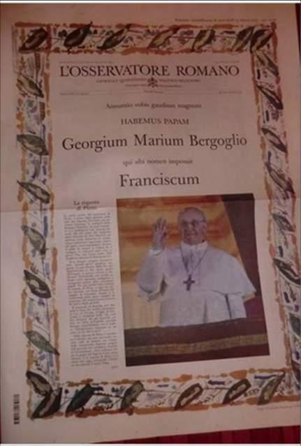 Osservatore Romano PAPA FRANCESCO HABEMUS PAPAM del