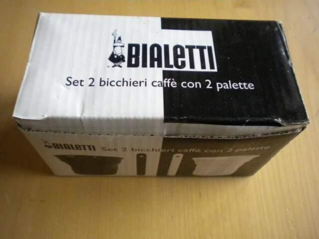Bialetti set 4 bicchieri caffè + 4 palette caffe nuovo