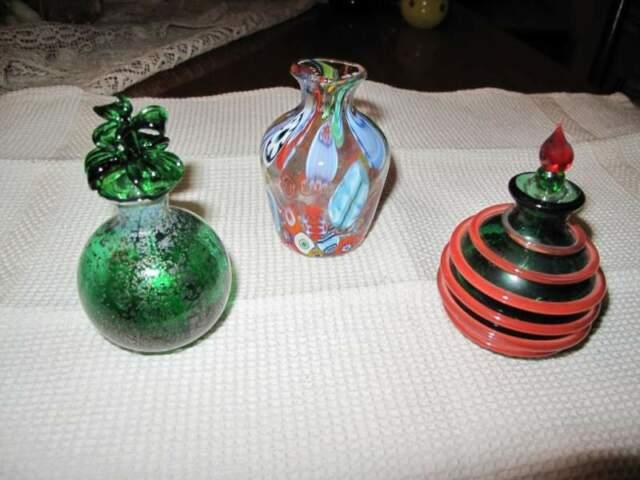 Bottigliette in vetro di murano,interamente realizzate a