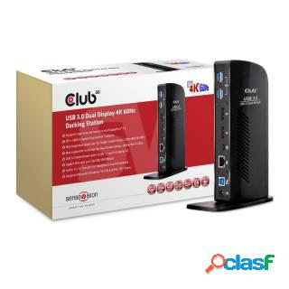 Club3D SenseVision Docking Station USB3.0 Dual Display 4K