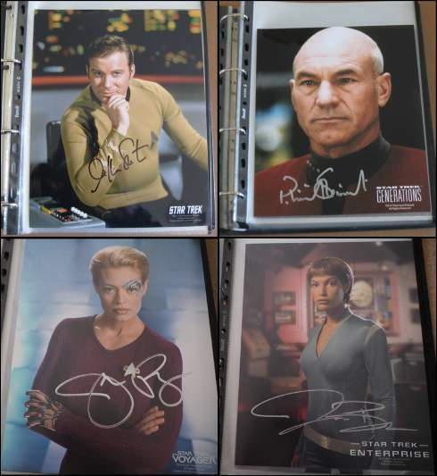 Collezione 63 foto originali autografate serie TV STAR TREK