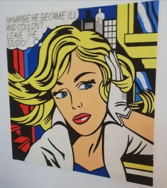 Dipinti su tela tributo Roy lichtenstein 80x80