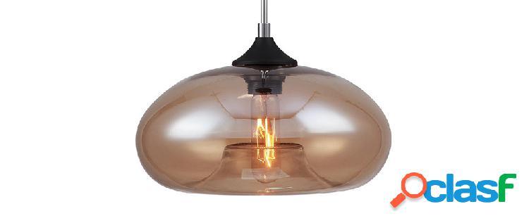 Lampadario design in vetro soffiato fumé MISTIC