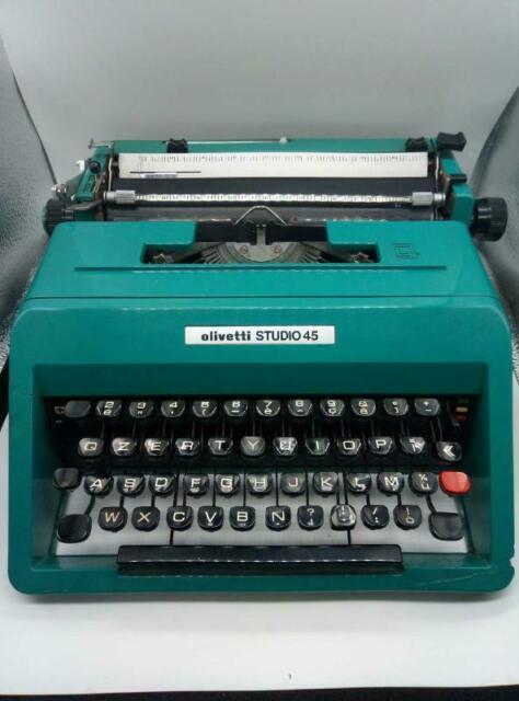 Macchina da scrivere olivetti studio 45 valigetta verde