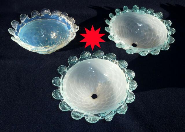 Paralumi scodellini lampadari 3 pz in vetro murano