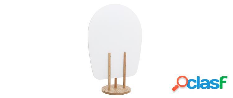 Paravento scandinavo-giapponese in legno colore Bianco