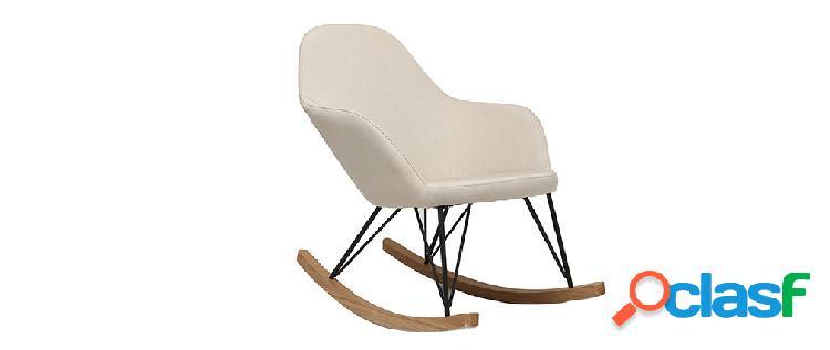Poltrona relax - Sedia a dondolo tessuto naturale gambe in