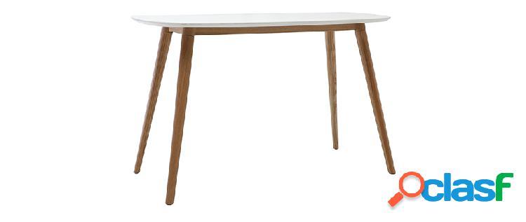 Scrivania design legno e bianco L120 cm SWIFT