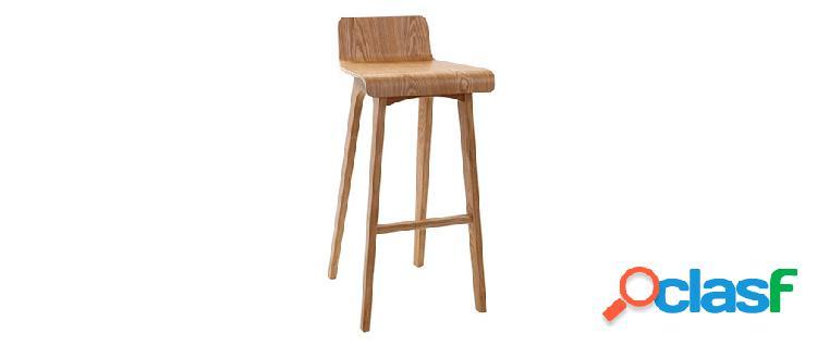 Sgabello / sedia da bar design legno naturale scandinavo 75